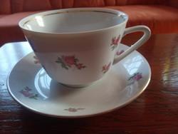 Porcelán csésze és alj