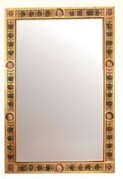 Óriás méretű régi aranyozott faragott tükör vagy kép keret