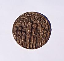 F. R. jelzéssel 1978-as bronz plakett