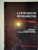 Végh András: Lapidarium Hungaricum 4.: Budapest I.