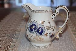 Zsolnay teás búzavirágos kiöntő