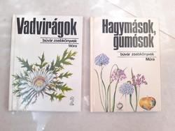 Búvár Zsebkönyvek Vadvirágok Hagymások, gumósok könyv 2 db