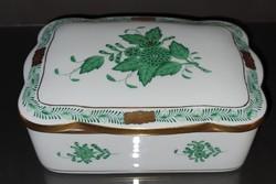 Herendi zöld Aponyi mintás bonbonier