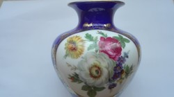 Zsolnay kék, virágos váza