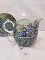 1 szemèlyes porcelàn teàs szett.Vincent Van Gogh- Iris