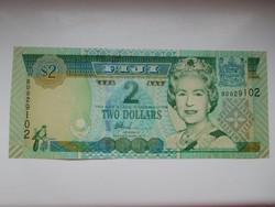 Fidzsi szigetek 2 dollár 2002 UNC