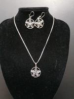 Ezüst nyaklánc és fülbevaló szett 925-ös (Silpada)