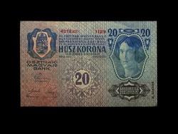20 KORONA - aUNC - GYÖNYÖRŰ BANKJEGY