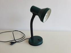 Régi retro asztali fémbúrás zöld lámpa
