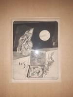 Gy. Molnár István - Az éjszakai képei II., 1960-as évek, rézkarc, (Maurer, Major, Lakner pályatársa)