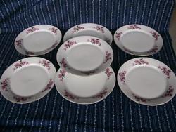 Al Virágmintás alföldi süteményes tányérok 6+1db