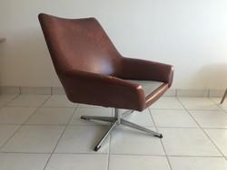 Retro régi krómozott forgófotel fémvázas forgó fotel