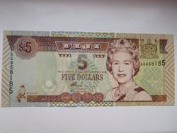 Fidzsi szigetek 5 dollár 2002 UNC