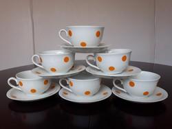 Nagyon ritka Zsolnay porcelán pöttyös teáskészlet