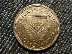 Dél-afrikai Köztársaság II. Erzsébet .500 ezüst 3 Penny 1956 (id27207)