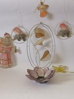 Tiffany féle blakdíszek / Pearl Tiffany Window Decoration Set