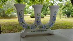 Háromágú kézzel festett jelzett gyertyatartó