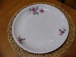 Al Alföldi porcelán virágmintás süteményes Kínáló vagy sültes tányér