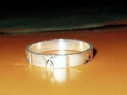 Vésett mint. 925 ezüst  uniszex Karikagyűrű 8-10 méretig