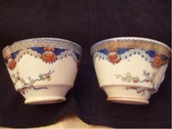 E15 Sarreguemines 168 éves nagy majolika fajansz kávés/ teás muzeális ritkaság gyűjteménybe való