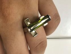 Gyönyörű ezüst gyűrű 18mm belső átmérő