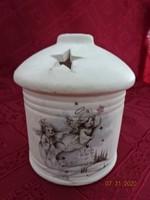 Amsel német porcelán angyalkás gyertyatartó, magassága 9,5 cm.