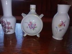 Hollóházi kis vázák és figurás disz