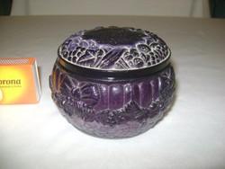 Art deco malachit bonbonier, ékszertartó - ritka színű