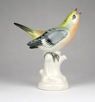 0Y643 Régi Volkstedter porcelán madár figura 13.5 cm