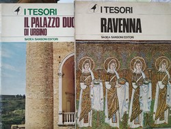 Ravenna mozaikok + Urbino Palazzo Ducale 2 kötet képeskönyv I tesori Sadea/Sansoni 1980