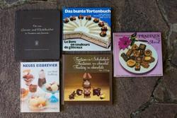Antikvár cukrászati szakkönyvcsomag