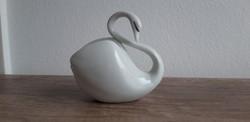Hollóházi porcelán art deco hattyú
