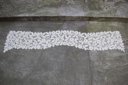 Vert csipke kendő sál stóla 172 x 35 cm