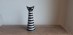Zsolnay porcelán art deco macskaváza