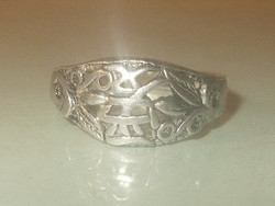 Szeretet keleti Írásjelű Régi Uniszex Tibeti ezüst Gyűrű 8-as