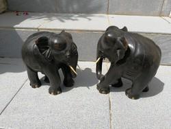 Fa elefánt párjával fából! Patinás kiváló darab!