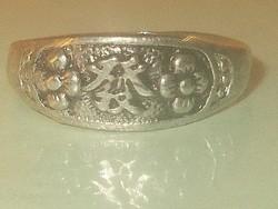 Békesség keleti Írásjelű Régi Uniszex Tibeti ezüst Gyűrű 8-as