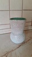 Gorka repesztett mázas kerámia retro váza 15 cm eladó!