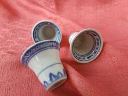 3 db. porcelán kínai rizsszemes rövid italos  pohár