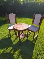 Neobarokk márványlapos asztal székekkel