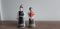 Hollóháézi porcelán népviseletes pár kicsi matyó pár