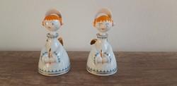 Hollóházi porcelán art deco angyalka
