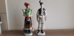 Hollóházi porcelán matyó népviseletes pár