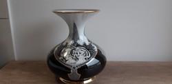 Hollóházi porcelán nagy méretű szász endre váza jurcsák