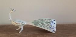 Hollóházi porcelán art deco páva