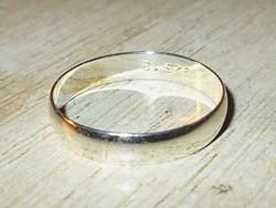 Sima. 925 ezüst - fehérarany uniszex Karikagyűrű 6 - 10 méretig