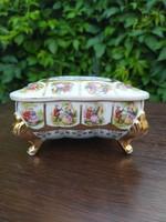 Japán porcelán ékszeres dobozka
