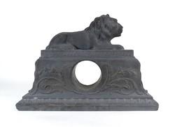 1B304 Régi Lavinit oroszlános fekete kerámia óratok 38 cm