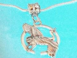 Gólya Hír - babaváró -  Szerencse Amulett Tibeti ezüst Nyaklánc