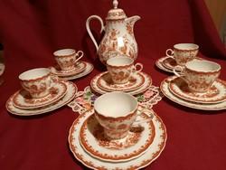 45 6 személyes finom porcelán kávés készlet La porceláne culinare formano tosca